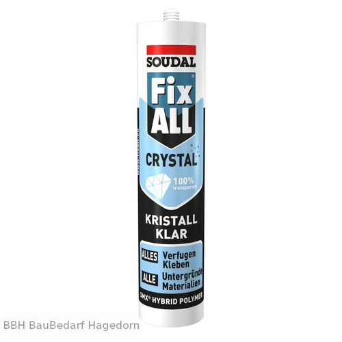 SOUDAL Fix All Crystal, glasklar Kartusche