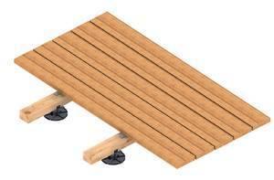 stellf e f r holzterrassen alle h hen von 8 290 mm. Black Bedroom Furniture Sets. Home Design Ideas